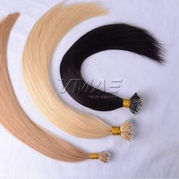 "Wholesale Nano Ring Hair Extensions Indian - Micro Nano Ring 0.5g s 100s Hair Extension 18"" to 30"" Straight Nano Ring Hair 50g VMAE Hair"
