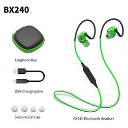 Wholesale Huawei Waterproof - BX240 Wireless Bluetooth Earphone IPX5 Waterproof Sport Music Headset Stereo Headphone With Mic For iPhone Samsung HTC Huawei