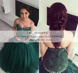 Wholesale Evenign Dresses - Hunter Green Mermaid Arabic Afghan Evening Dresses 2016 Vintage Lace Plus Size Beaded Tulle Crystal Dubai African Formal Evenign Party Gowns