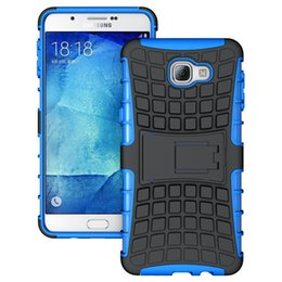 Wholesale Galaxy Heavy Duty Armor - Defender Heavy Duty Rugged Armor Cell Phone Protection Hybrid Kickstand Case For Samsung Galaxy Mega 6.3 A9 Cover Skin Shockproof