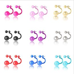 Wholesale Luxury Statement - 9 colors earrings for women double sided Candy Bridal wedding luxury ear stud round statement diamond earring stud diamond ring free shippin