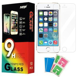 Wholesale Galaxy S4 Body - For iphone 6s 6Plus 5s SE S6 9H Tempered Glass 2.5D Premium screen protector Film For Samsung Galaxy Note 5 4 S5 S4