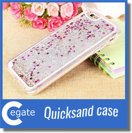 Wholesale Iphone Wholesalers Ca - Flowing Glitter Star Quicksand Case For Iphone 7 Plus with 50PCS OPP Package Quicksand Case For Iphone 7 3D Liquid Case Soft TPUQuicksand Ca