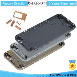 Wholesale Oem Iphone Full Assembly - OEM For iPhone 6 Plus 6plus Full Metal Housing Battery Door Back Cover Middle Frame Assembly Replacement Parts Back Panel