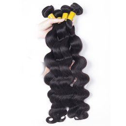Wholesale Ali Queen - Ali Queen Romantic Hair Products Peruvian Body Wave 4 Bundles Extensions Dyeable Great Quality Hair Weave Bundles 8A Cheap Hair wave