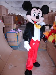 Wholesale Free Shipping Costume - Mickey Mouse Mascot Costume Adult Size Fancy Dress Suit Free Shipping
