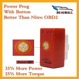 Wholesale Car Tuning Jaguar - Raise Hidden Power Red Nitro OBD2 Chip Tuning Box Plug And Drive NitroOBD2 For OBDII Diesel Cars