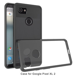 Wholesale Xl Phone Cases - For Google Pixel 2 XL Armor Case Transparent Hybrid Phone Case For Google Pixel Soft TPU Bumper Clear Back Cover A