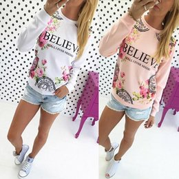 Wholesale Women Floral Blouses - Kimisohand 2016 Fashion Women Casual Loose Cotton Floral Print Hoodies Sportwear Pullover Sweatshirt Long Sleeve Blouse Tops