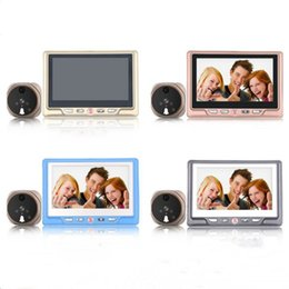 Wholesale Digital Video Door Viewer Peephole - Saful TS-506 LCD Recordable Digital Peephole Door Viewer with Door Eye Doorbell 1300k Pixels 3X Zoom IR Wide Angle Video Camera