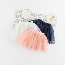 Wholesale Korean Style Kids Wearing - Girls tutu tulle star bow skirts summer baby kids Korean style clothing children party dance wear wholesale 5AA406ST-38