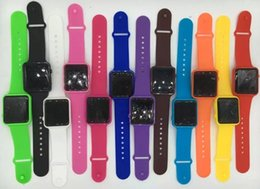 Wholesale Led Rubber Band Watch - 2017 New Square Mirror Face Silicone Band Digital Watch Red LED Watches Quartz Wrist Watch Sport Watch DHL Free Shipping