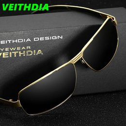 Wholesale Bicycle Frame Design - Veithdia UV400 Pilot Men Polarized Sunglasses Brand Logo Design Dazzle Driving Sports Riding Bicycle Sun Glasses Goggles Aquare 2017