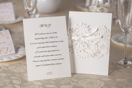 Wholesale Wedding Cars Flowers Set - Personalized & Customized Printable Invitation Cards Wedding Cars Flowers Set Elegant Business Card Hollow Party Invitation Cards