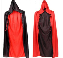 Wholesale Halloween Dress Witch - Halloween red cap with a cape halloween costumes cosplay Witch Cloak Vampire cosplay dress Masquerade free shipping