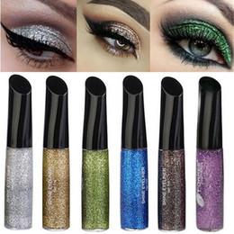 Wholesale White Liquid Liner - Colorfull quality Glitter Eyeliner Eyeliner eyeshadow Smooth Liquid Makeup Eye Liner Cosmetic waterproof eye liner