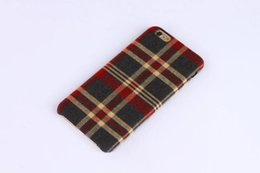 Wholesale Plaid Cell Phone Cases - New Luxury Plaid Pattern Cover Case Fashion Plaid Cloth Cell Phone Shell For iPhone 6 4.7 6 plus 5.5 Cases