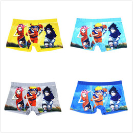 Wholesale Underwear Panties Boys Kids - Retail Naruto Boys Girls Panties Underpants Baby Boy Clothes Anime Cartoon Uzumaki Naruto Kids Briefs Underwear Kawaii Children Knickers