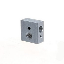 Wholesale 3d Printer Aluminum - Heater Block For Reprap Makerbot 3D Printer MK8 Extruder Hot End Screw hole B00167 BARD