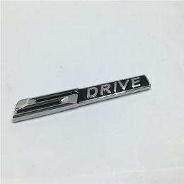 Wholesale Chrome S Badge - 2Pcs Auto Accessories Metal 3D S DRIVE SDRIVE Emblem Chrome Badge Side Logo Car Stickers Decal