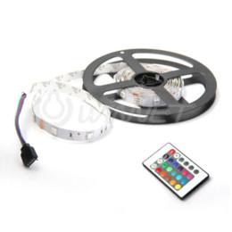Wholesale Truck Light Strips - 2M 5050 SMD 60 LED RGB Car Club Truck Strip Light + 24 Key Remote + Controller