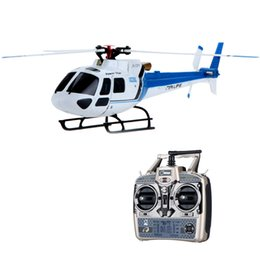 Wholesale Flybarless Helicopter Rtf - 2016 Original Wltoys RTF 6CH Brushless Motor Flybarless 3 Blades AS350 Scale 3D stunt RC Helicopter RTG drones