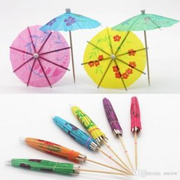 Wholesale Deco Cake Decorating - Paper Parasol Drink Deco Mini Umbrella Cocktail Cake Decorating Toothpick Fruit Bar Wedding Holiday Birthday Party Supplies Event