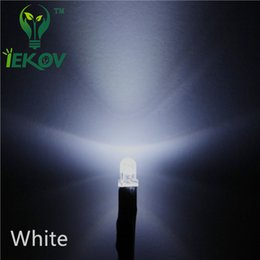 Wholesale Diode 3mm - 1000pcs High Quality Factory Price Pre-Wired Resistor 3MM Round Top White 12V DC 20CM LED Lamp Emitting Diode For car DIY Wholesale