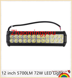 Wholesale Cree 12 Inch 72w - 4PCS 12 inch 5700LM 72W CREE LED Light Bar Truck Trailer 4x4 4WD SUV ATV Off Road Car 9-32v Work Working Lamp flood Spot combo Beam