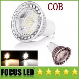 Wholesale Cree Led Dc Light Bulbs - GU10 E27 Led Bulbs Light 9W 12W COB Led Spot Lights Lamp High Lumens CRI>85 AC 110-240V  DC 12V DHL Free Shipping