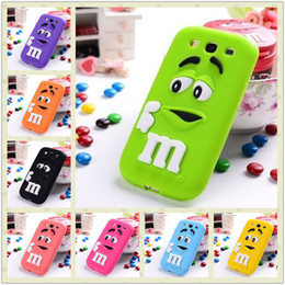 Wholesale Back Cover Grand - Wholesale-G530 2015 3D Cute Lovely Cartoon Chocolate Beans Soft Silicone Back Case Cover for Samsung Galaxy GRAND Prime G530