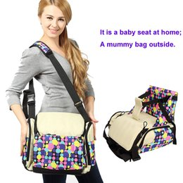 Wholesale Toddler Infant Chairs - Multifunction maternity bag Infant toddler diaper bag Mummy nappy bag Infant Baby Feeding Chair Booster Seats Chinese Brand factory sells