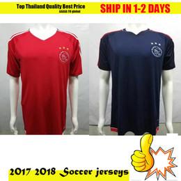 Wholesale Blue Staff - 2017 2018 Ajax trainingshirt technical staff adults New Ajax Home Soccer Jerseys 2017 18 Ajax FC Red Away Blue 1718 Camisa KLAASSEN