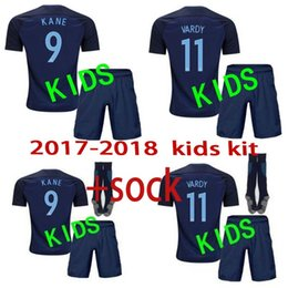 Wholesale Henderson Suits - 2017 18 kids kit World Cup Soccer jersey Kits england ROONEY KANE STURRIDGE STERLING HENDERSON VARDY children with socks Football suit