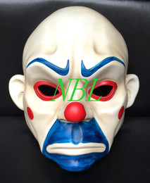 Wholesale dark knight batman costume - Batman Mask Joker Clown Bank Robber Dark Knight Costume Halloween Masquerade Party Fancy Resin Masks Free Shipping