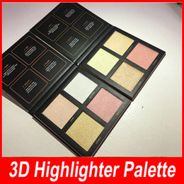 Wholesale Hot Pink Sand - New Hot Beauty Glow Highlighter Bronzers Palette 3D highlighter Powder 2 Style Gold Sands Edition Pink Sands Edition