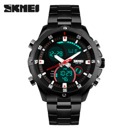 Wholesale Skmei Waterproof - Original SKMEI 1146 Men's Sport LED Digital Waterproof Stainless steel band Multifunction Wrist watch Good quality