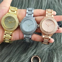 Wholesale Designer Batteries - M BRAND 2016 Luxury Brand Watches Womens Diamonds Watches Bracelet Ladies Designer Wristwatches 3 Colors Free Shipping