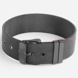 Wholesale Black Chain Link Belt - Hot Sale New Fashion Stainless Steel Black Buckle Belt Bracelet Men Women Adjustable Wholesale Free Shipping