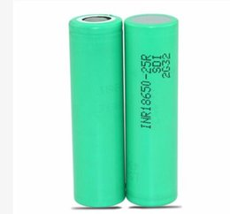Wholesale Ups Battery Wholesale - FEDEX UPS INR18650-25R High quality batteries 20A Grade High Power Li-ion Rechargeable Battery Cell For Samsung Electonic Cigarette