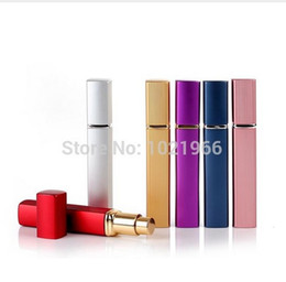 Wholesale Empty Metal Lipstick Tubes Wholesale - 12ML aluminum Perfume tube perfume bottle glass empty bottle perfume lipstick tube empty bottles