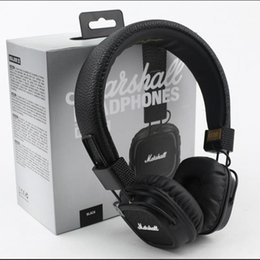 Wholesale Brown Monitor - Hot sale Marshall Major II 2 2nd Generation Headphones Noise Cancelling Headset Deep Bass Studio Monitor Rock DJ HiFi headphone