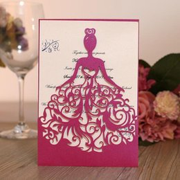 Wholesale Glossy Invitations - Creative Hollow Invitations Cards for Party, Wedding, Thanks Expression (Purple)