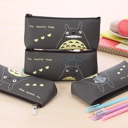 Wholesale Stationery Gifts For Children - Cartoon Miyazaki Totoro Pencil Bags Wholesale Children Kids Pen Bags PU Waterproof Stationery Bags Promotion Xmas Gift for Boys Girls