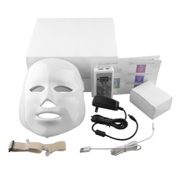 Wholesale Facial Uses - 7color Korean Photodynamic LED Facial Mask Home Use Beauty Instrument Anti acne Skin Rejuvenation LED Photodynamic Beauty Face Mask(0602011)