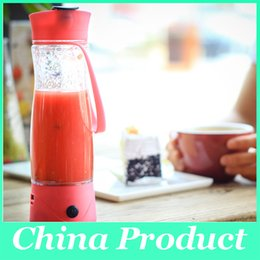 Wholesale Milkshake Cups - 350ml Hand Portable Electric Fruit Juice Mixer Cup Battery Automatic Milkshake Juicer Mixer Bottle with phone charger 010267