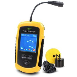 Wholesale Sonar Free Shipping - Brand Fish Finders Alarm 100M Portable Sonar LCD Fishing Lure Bait Echo Sounder Carp Fishing Finder Free Shipping