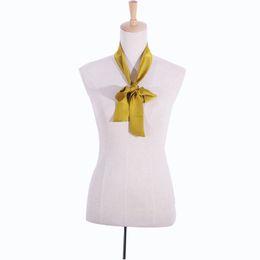 Wholesale Popular Purple Ties - Wholesale-SALUTTO 2016 Brand Chiffon Popular Women Scarf Catwalk Hair Belt Twilly Bind Bag With Small Tie Headband Ribbon