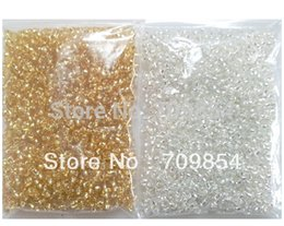 Wholesale Tiny Glass Beads Wholesale - 2mm Tiny glass Beads silver god color you can choose