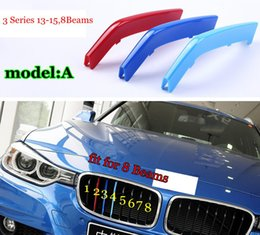 Wholesale Bmw X5 Grill - Exact Fit M-Colored Grille Insert Trims For BMW 3 Series 13-15,5Series 14-15,X5 X6 with Standard Center Chrome Kidney Grill 8 10 11 7 Beams